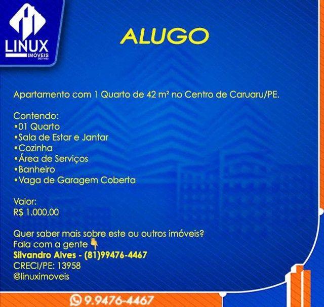 Apartamento de 1 Quarto no Centro de Caruaru p/ Locação - Foto 2
