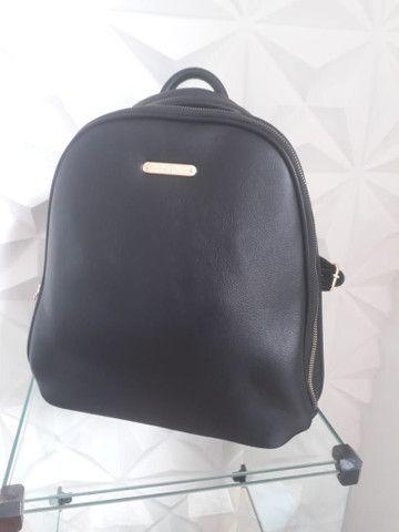 Bolsa mochila em couro