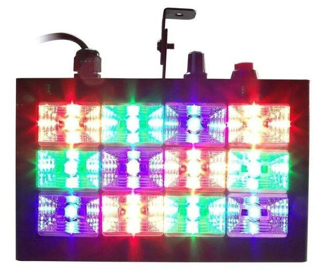 MINI STROBO 12 LEDS RGB RÍTMICO BIVOLT JOGO DE LUZ - Foto 2