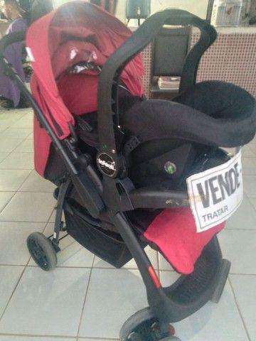 Carrinho terni com o bebê conforto  - Foto 4