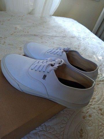 Tênis Polo Wear Branco/Branco - Foto 2