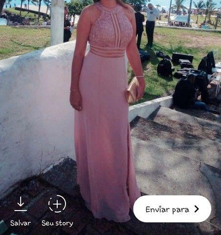 Vestido para festa ou madrinha de casamento rosê tamanho P - Foto 5