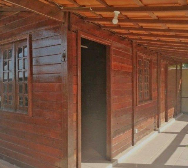 Casa de Madeira a 600 metros da CE-040 com terreno 400 m2 e deck preço de ocasião - Foto 6