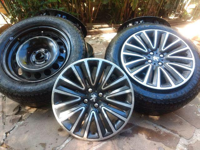Jogo de pneus e aro de ferro