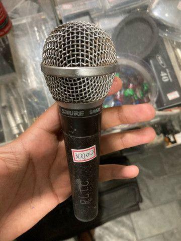Microfone Shure SM-58 usado - Foto 2