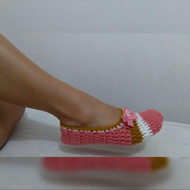 Sapatilhas crochê  - Foto 2