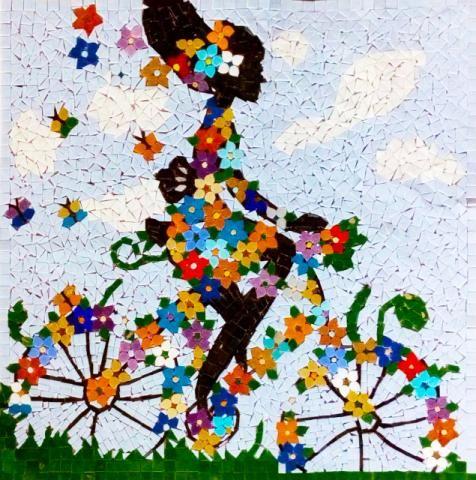 Mosaico Artistico Bicicleta