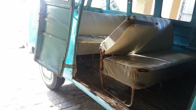 Kombi Corujinha 1964 azul, motor, suspenção, freios e elétrica nova - Foto 16