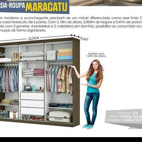 Queimão Guarda roupa Móveis Gerais - Foto 3