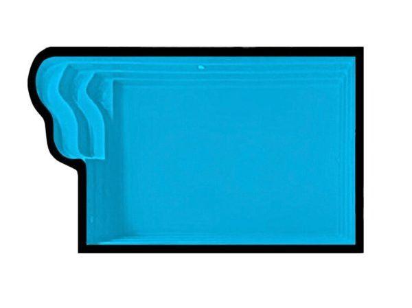 MB - Piscina de fibra 4,80x2,70 - Preço de fábrica