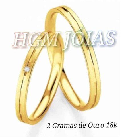 Alianças Baratas em Ouro18k Fabricação Própria - Foto 5