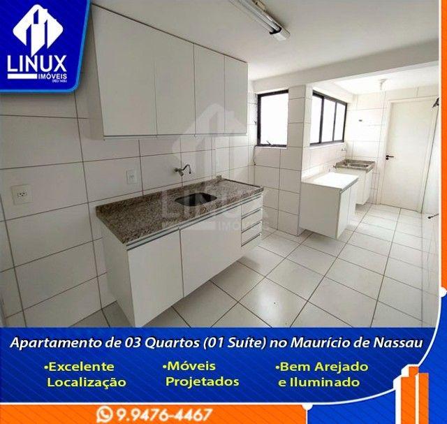 Alugo Apartamento de 3 Quartos (1 Suíte) com 88 m² no Maurício de Nassau em Caruaru/PE. - Foto 6