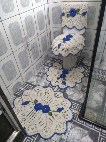 Lindos kits de banheiro em crochê 4 peças. - Foto 3