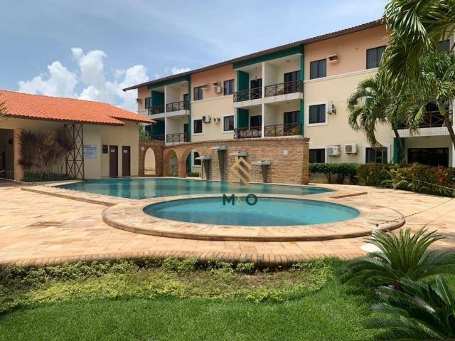 Apartamento com 1 dormitório para alugar, 52 m² por R$ 1.300/mês - Porto das Dunas - Aquir - Foto 2