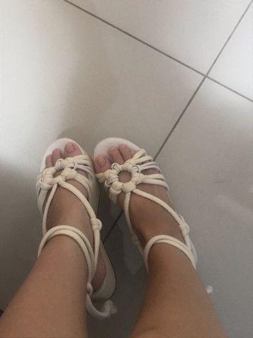 Sandália Platarforma Amarração - Foto 2