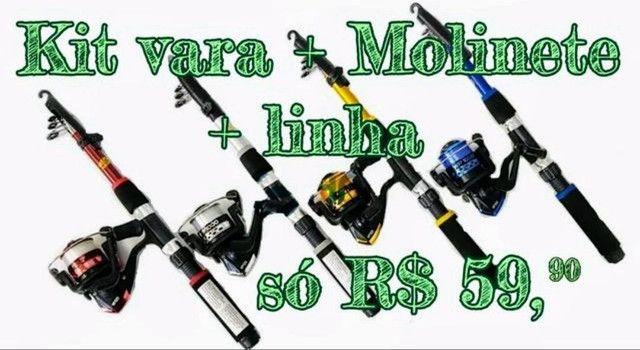Kit molinete completo R$ 59,90 - Foto 2