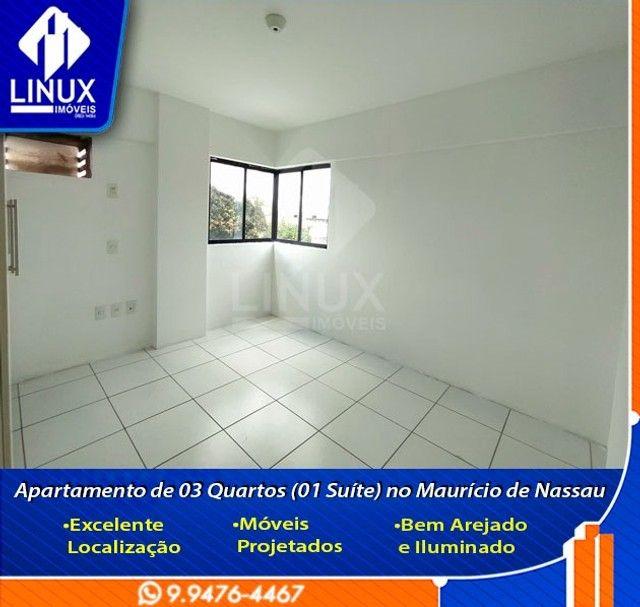 Alugo Apartamento de 3 Quartos (1 Suíte) com 88 m² no Maurício de Nassau em Caruaru/PE. - Foto 8
