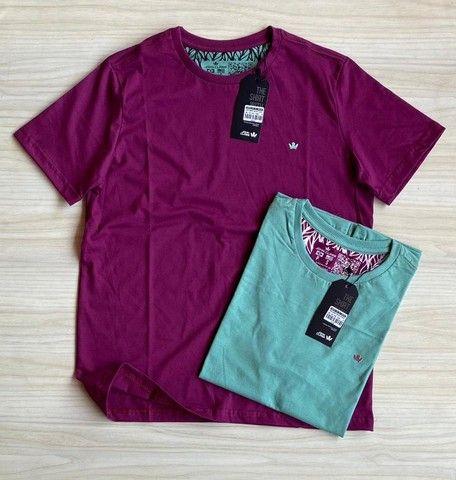 Camisas T-Shirt Básica Fio 30.1 Penteado - Foto 2