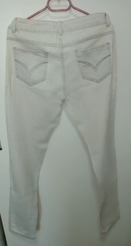 Calça Jeans Branca (42/44) - Foto 2