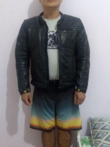 Jaqueta de couro 100%motoqueiros - Foto 2