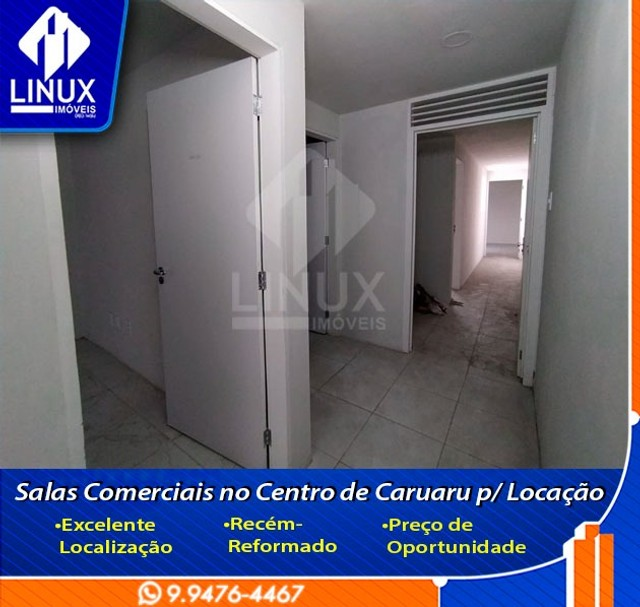 Alugo Salas Comerciais de 15 m² no Centro de Caruaru/PE.