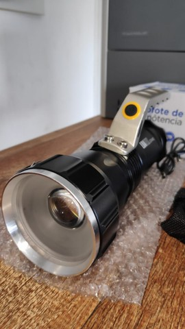Lanterna Holofote Recarregável Super Forte - Foto 4