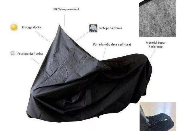 Capa para Cobrir Moto Corino (P/M/G) - Entrega Grátis  - Foto 4
