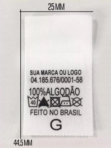 Etiqueta Para Uniformes Composição 1.000 unid Prova Dagua