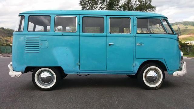 Kombi Corujinha 1964 azul, motor, suspenção, freios e elétrica nova