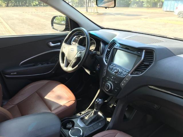 Hyundai Grand Santa Fé 3.3 2014 + Teto Panorâmico Preço Abaixo da Fipe - Foto 7