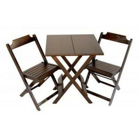 Conjuntos Dobráveis - Mesas 70 x 70 - com 2 ou 4 cadeiras - Foto 5