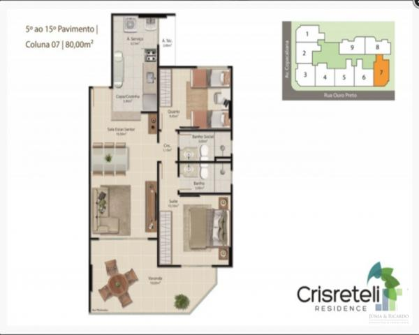 Apartamento à venda na Praia do Morro em Guarapari, 2 quartos 1 ou 2 vagas de garagem - Foto 13
