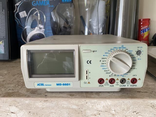 Multímetro Digital De Bancada 4 1/2 True Rms Md-6600 Icel