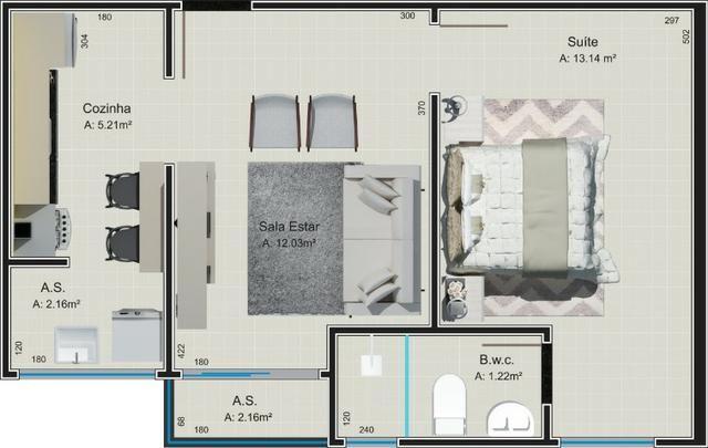 Apartamento Studio (com suíte) no Jdm. Panorama - Foto 7