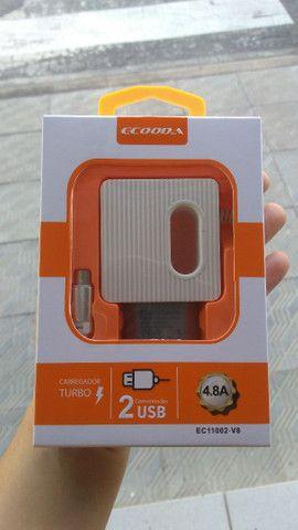 Carregador 4.8 Ecooda com dois USB micro USB(V8)