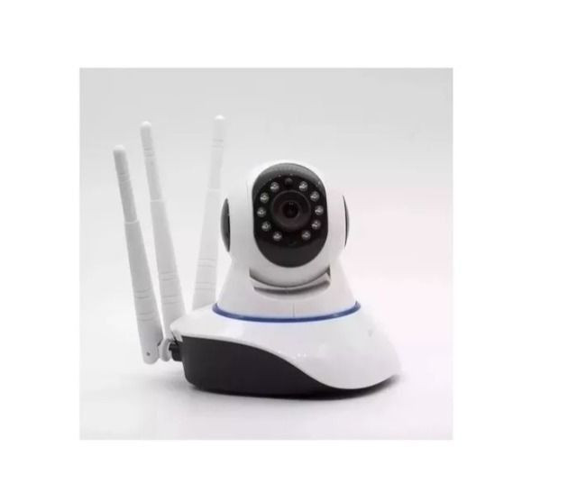 Camera IP Robô P2P 3 Antenas V380 Wi-Fi 720p Visão Noturna - Foto 2