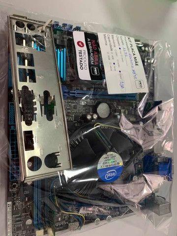 KIT Placa Mãe Asus P8B75-M Le Intel Soquete LGA 1155