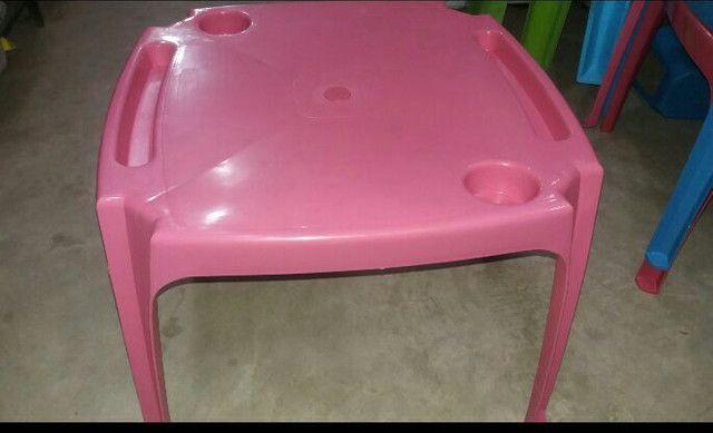 Mesa + 2 cadeiras infantil rosa - Foto 2