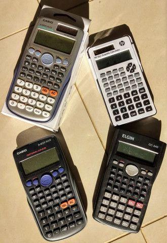 Calculadora Casio 991es e FX92es HP10s Elgin CC240 = lote