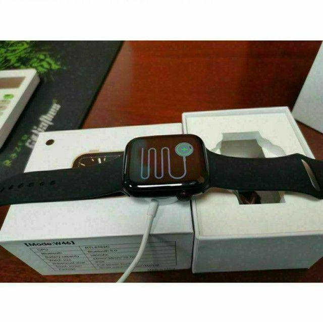 Relógio SmartWatch IWO W46 - NOVO (Compatível com Android e IOS) - Foto 4