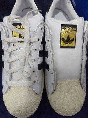 Tênis Adidas original em couro legítimo - Foto 4