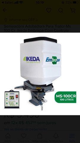 Semeadora Adubadora Para Trator Ms 100 Cr  Ikeda Embrapa Com Controle  - Foto 2