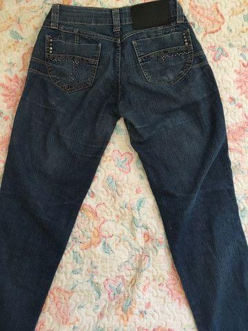 Calça jeans feminina (rasgada pantacourt e iskini) - Foto 4