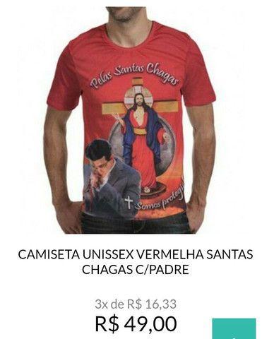 Camisetas Jesus das Santas Chagas - Foto 2