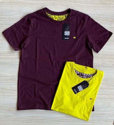 Camisas T-Shirt Básica Fio 30.1 Penteado