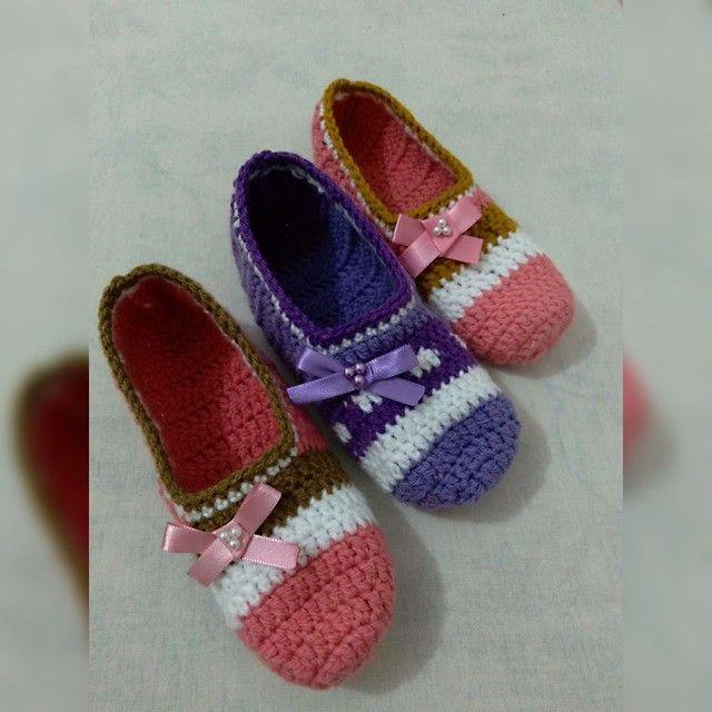 Sapatilhas crochê