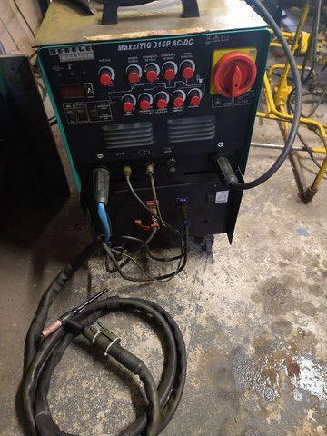 Máquina solda tig ,AC,DC 315 p malber pouco uso