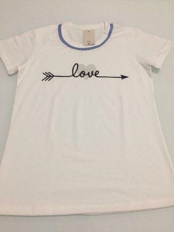 Camisa trabalhada 100% algodão