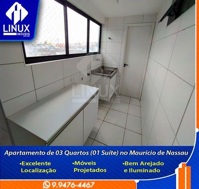 Alugo Apartamento de 3 Quartos (1 Suíte) com 88 m² no Maurício de Nassau em Caruaru/PE. - Foto 5