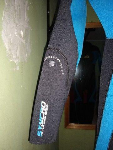 Roupa de Surf Quiksilver 3,2mm Tamanho P - Foto 3